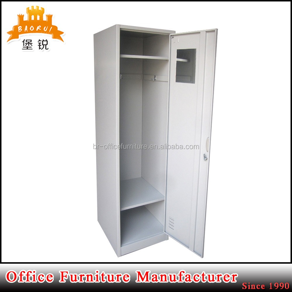 BAS-009 metal single locke modern closet wardrobe lockers with code