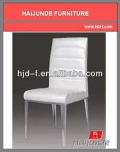 White PU chair /stainless steel Dining chair