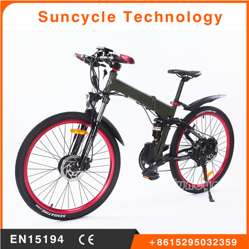 Suncycle best bike fender 27.5 folding electric hybird bike e bicycle
