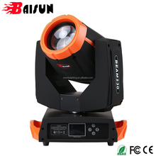 Baisun 7R Sharpy 230W RGBW DMX512 Moving Head Beam Pattern Prism Zoom Stage Dimming Light Gobo Light LED Spotlight