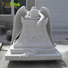 White Marble Grave Headstones With Weeping Angel Statue For Sale