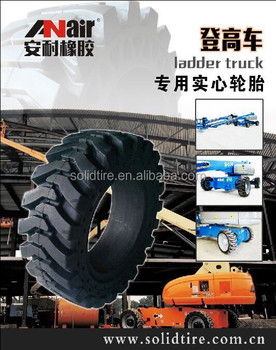 385/65-24 Ladder Truck Rubber Solid Shaped Tire 10.00