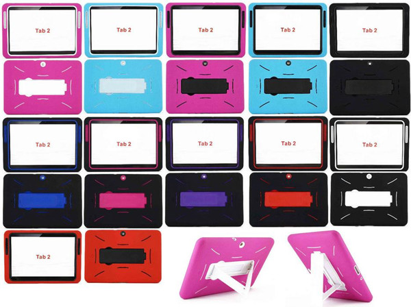"For Samsung Galaxy Tab 2 10.1"" Heavy Duty Hard Armor Hybrid Kickstand Case Cover"