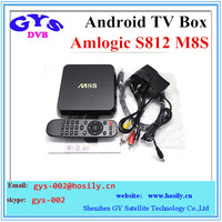 ANDROID TV BOX 4K M8S Quad Core Android TV Box with Andriod 4.4.2 Amlogic S812 2.0Ghz Bluetooth m8s tv box