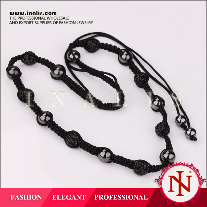 Wholesale nickel free bead landing necklace N003