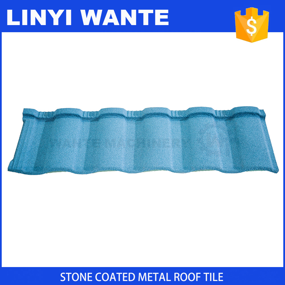 building material waviness metal roof tile, stone coated metal roof tile