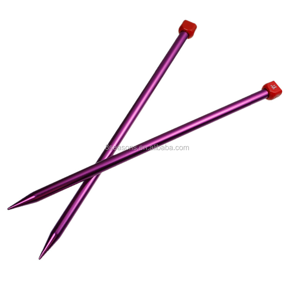 New Arrival Needles Knitting Multicolor Aluminum Oxide Fancy Knitting Needles