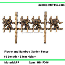 flower and bamboo Garden Fence