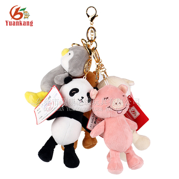 Mini Stuffed Animal Key Chain Soft Toy Custom Plush Panda Keychain