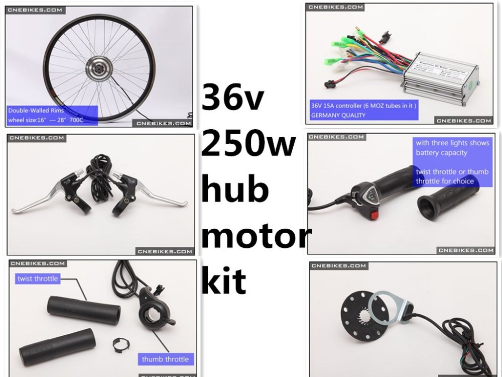 LCD display 250w 36v ebike kit ebike Germany controller kit