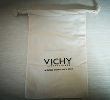 Factory wholesale promotional custom logo small cotton drawstring bags yiwu