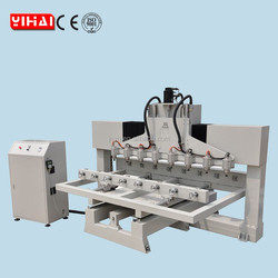 6 head cnc router/ 4 Axis Multi Head Wood CNC Rotary Machine/rotary cnc engraving with syntec cnc