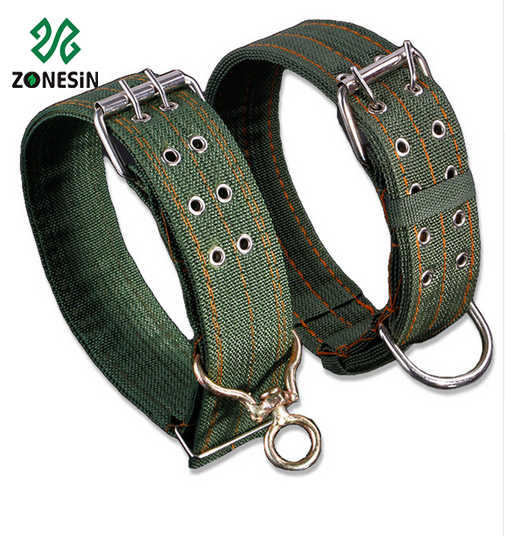 Top Sale Army Green Strong Canvas Nylon Pet Dog Collar With Adjustable Buckle