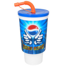 Alibaba Express Sell Well New Type 3D Lenticular Hard Plastic Cup With Lid And Straw