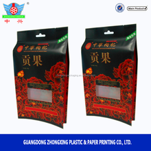 China manufacturer food grade dry medlar packaging bag, side gusset packaging with euro hole for medlar