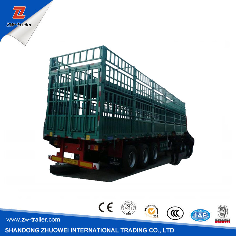 Single Or Double Optional Fence Semi Trailer With Made In China