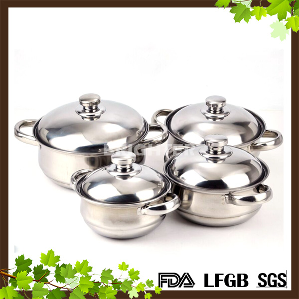 4pcs set Stainless Steel Cookware Set