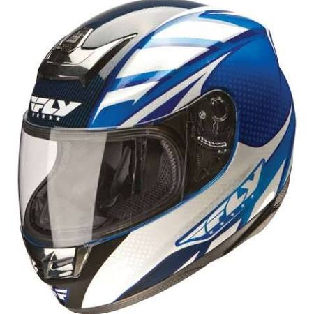 Fly Racing (73-8010-1) Paradigm Helmet Blue/White XS