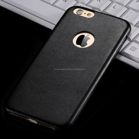 Luxury new design high quality ultra thin leather back case for Iphone6 plus