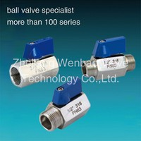 "plastic mini ball float valve 1/4 inch 3/8 inch 1/2 inch 3/4"" 1"" Stainless Steel Mini Ball Valve"