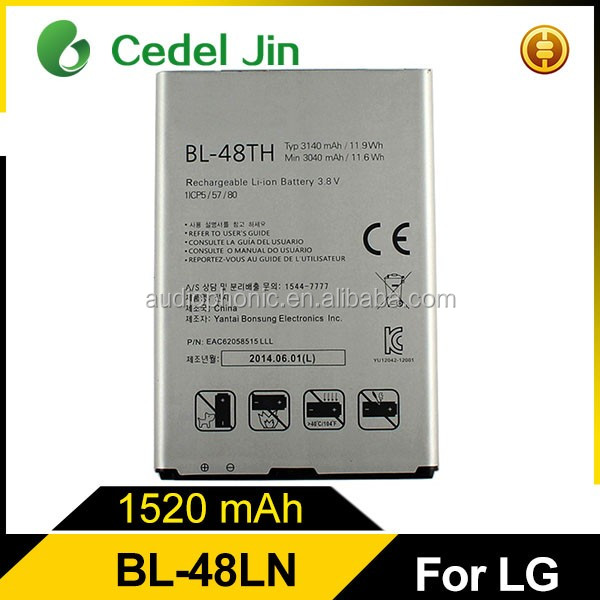 For LG Optimus G Pro F240 mobile phone battery BL-48TH
