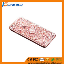 Soft TPU mobile phone cover Bling Crystal 3D Diamond phone case for iphone 7 case