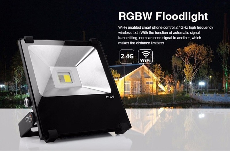 High Lumen Color Changing 10w RGBW Led Outdoor Flood Light , Waterproof WIFI Control Led Flood Light With AC100-240V