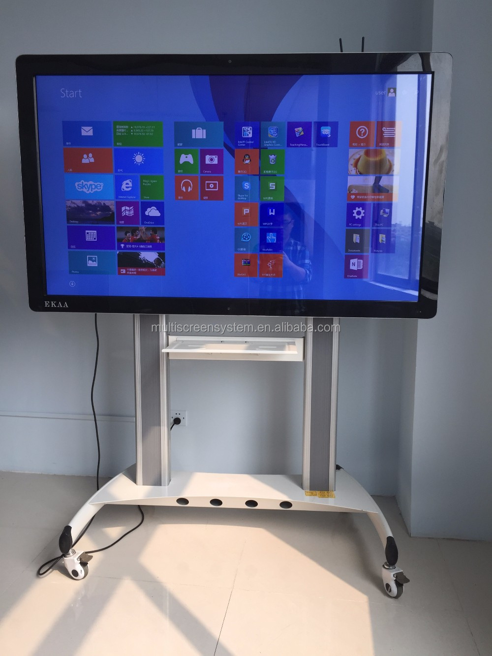 EKAA 98inch School Office Presentation All in One Touch Screen PC Smart Board
