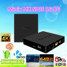 2016 Dragonworth Amlogic S905 android TV box MINI MX with Lollipop android 5.1 OS 1G DDR3 8G NAND Flash