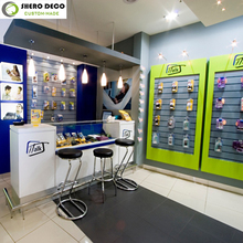 free design mobile phone shop interior design with display showcase