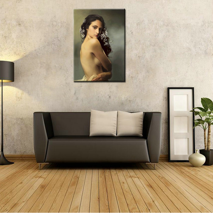 Decorative Wall Hanging Beautiful Women Nude Back Oil Painting