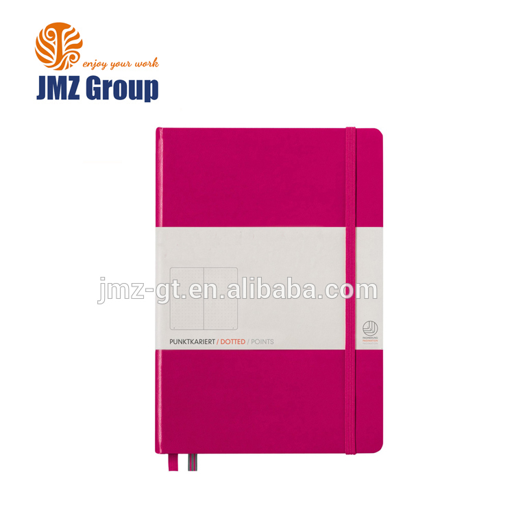 Custom hardcover A5 paper notebook with dotted pages