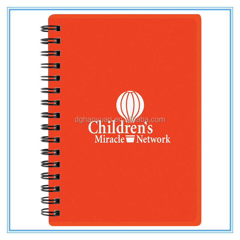 Custom LOGO ruled lines soft cover school A4 notebook paper custom spiral notebooks
