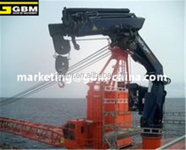Telescopic Deck Cranes : M t telescopic boom marine deck crane small fish boat