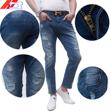 polyester viscose trousers skinny jeans for men custom breathable new style jeans pent