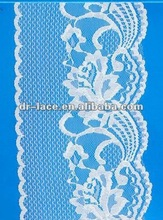 2012 new fashion scalloped lace fabric for lace shoes