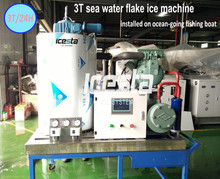 ICESTA easy controlling HIgh production guaranteed Seawater Flake Ice Makers for fishing on sea
