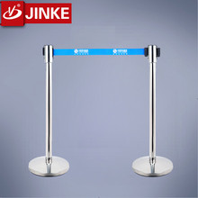 Sleek Polished Aluminum Posts Adjusta-Tape Crowd Control Barrier Used for Portable Traffic