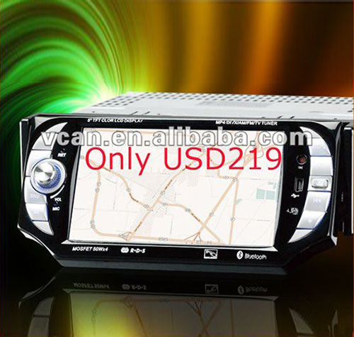 Car navigation GPS with touch screen Monitor DVD/TV/bt