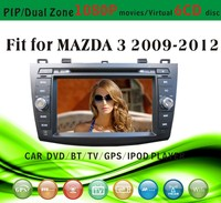 car dvd gps providers fit for Mazda 3 2010 - 2012 with radio bluetooth gps tv pip dual zone