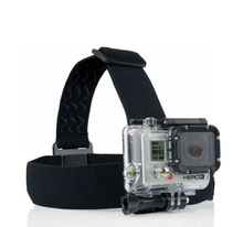 Elastic Adjustable Head Strap For Go Pro He ro 4 3+/3/2/1, with anti-slide glue like original one, with storage bag