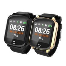 2019 Fall detection SOS smartwatch GPS Tracker <strong>Smart</strong> <strong>Watch</strong> D200 For Elder Blood Pressure Heart Rate