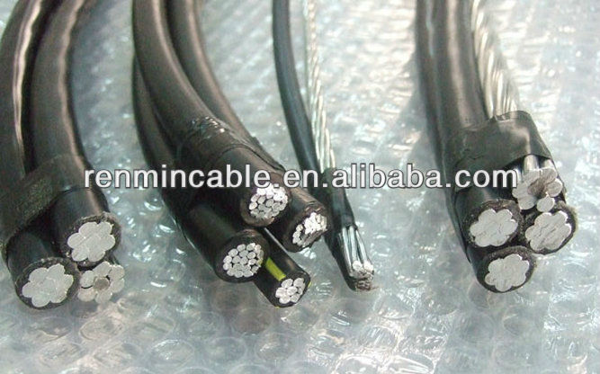 0.6/1kV overhead ABC cable Al/XLPE cable for african 35mm 50mm 16mm 70mm