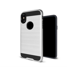 New arrival full protective 360 degree protection cover brushed rugged shockproof case for iPhone X