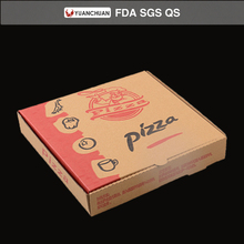 Eco friendly brown paper pizza chanting box