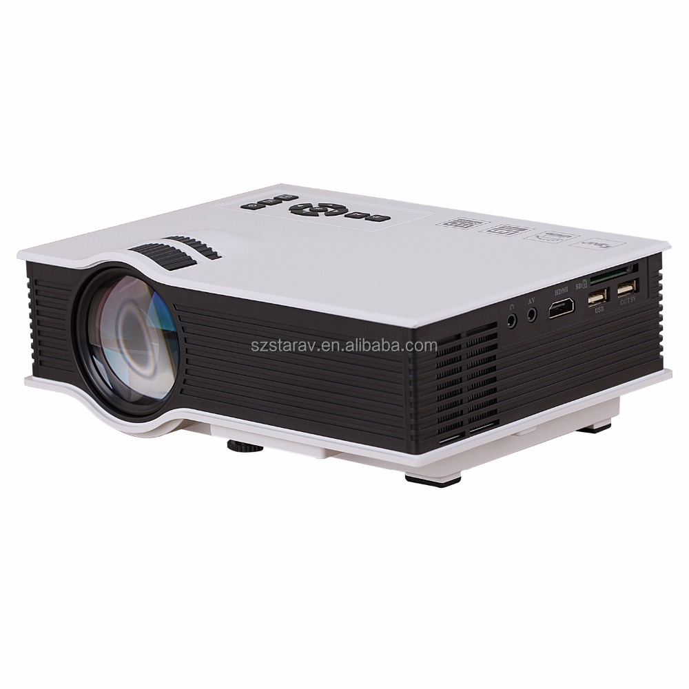 whole sale Best price uc40 Portable LED Projector Cinema Theater PC&Laptop VGA/USB/SD/AV/HDMI Projector