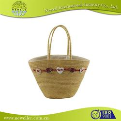 beautiful cheap real straw bag for girl