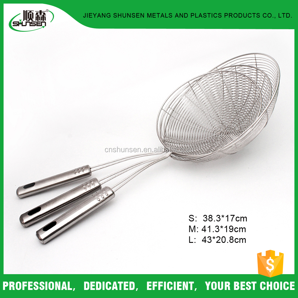 Kitchen Cooking Utensils Stainless Steel Wire Oil Skimmer