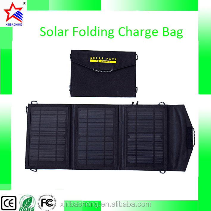 Travel Solar Panel Mobile Charger Folding Solar Charging Bag 14W