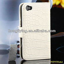 selling well croco pu Case for iphone 4, Fashion and popular